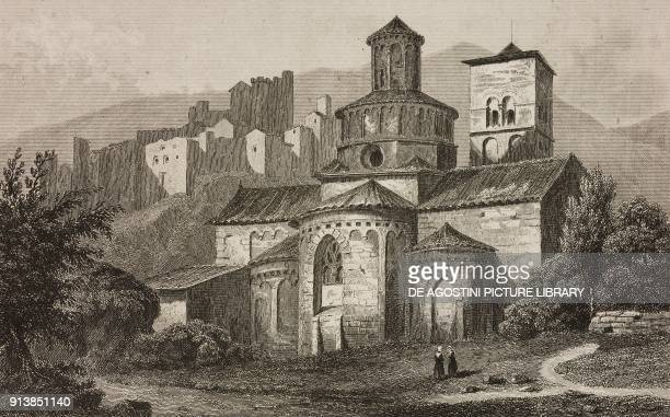 Apse of the Abbey Church of SainteMarie Cruas France engraving by Lemaitre from France deuxieme partie L'Univers pittoresque published by Firmin...