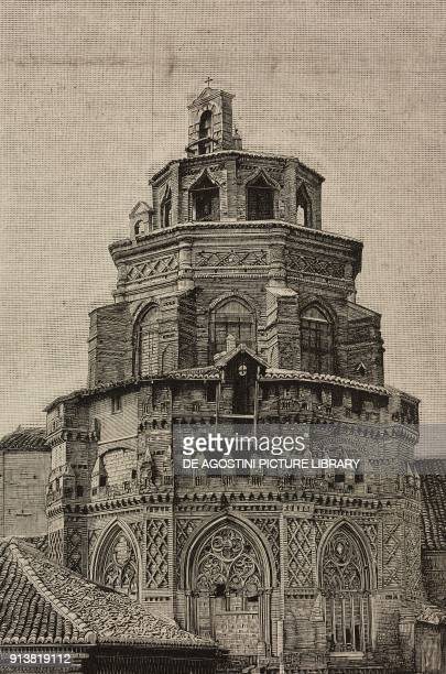 Apse of the Cathedral of the Savior Zaragoza Spain engraving after a photo from L'Illustrazione Italiana Year XX No 5 January 29 1893