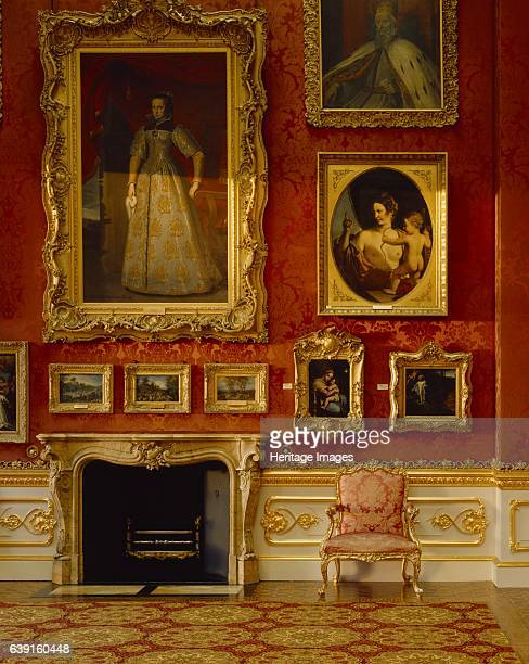 Apsley House London c19902010 Detail of the North wall and fireplace in the Waterloo Gallery Also known as Number One London Apspley is the London...