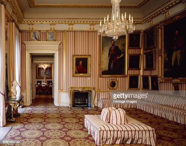 Apsley House London c19902010 Interior view of the Striped Drawing Room looking towards the Dining Room Also known as Number One London Apspley is...
