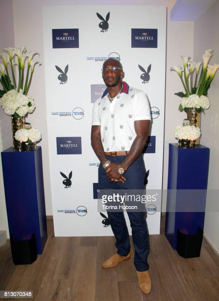 Aqib Talib attends the Talent Resources Sports Party hosted by Martell Cognac at Playboy Headquarters on July 11 2017 in Los Angeles California