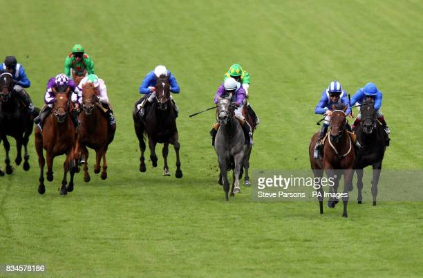 Aqlaam riden by Richard Hills wins the The Jersey Stakes on the second day at Ascot Racecourse Berkshire