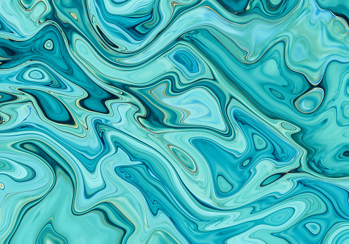Aqua abstract painted marble illustration - gettyimageskorea