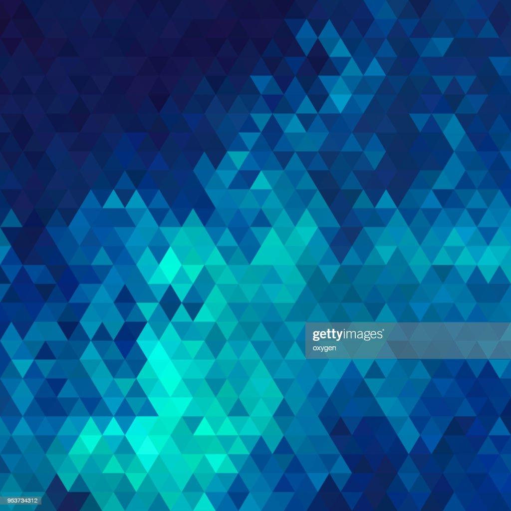 Aqua and blue triangular abstract background : Stock Photo