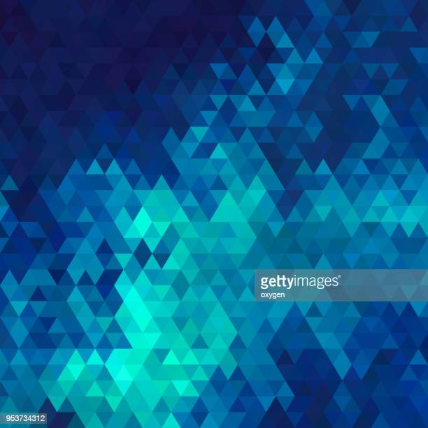 aqua and blue triangular abstract background - azul turquesa - fotografias e filmes do acervo