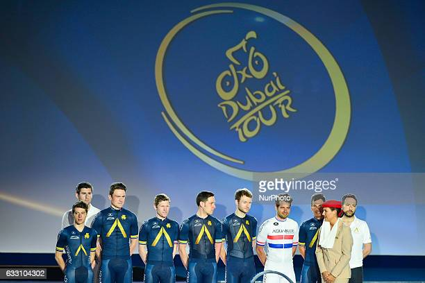 Aqua Blue Sport team at the Official Opening Ceremony of the 2017 Dubai Tour at the outdoor amphitheatre in the Westin Dubai Mina Seyahi Beach Resort...