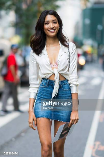 Aqua Parios attends casting for the 2018 Victoria's Secret Fashion Show in Midtown on September 5 2018 in New York City