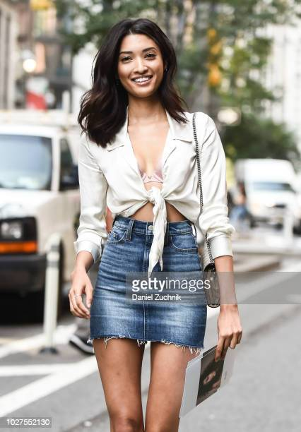 Aqua Parios attends the casting for the 2018 Victoria's Secret Show in Midtown on September 5 2018 in New York City