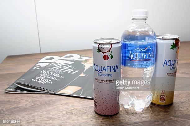 Aquafina on display on Day 5 of New York Fashion Week The Shows at Skylight at Clarkson Sq on February 15 2016 in New York City
