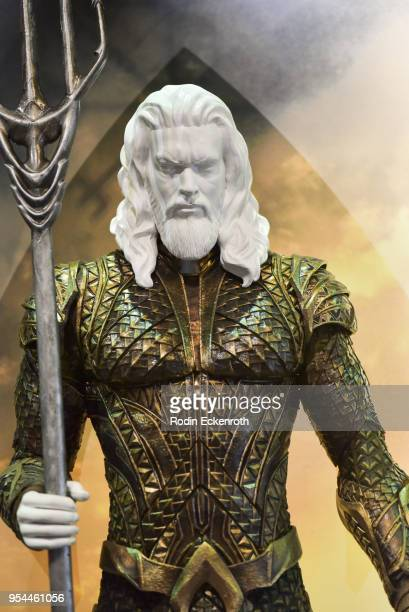 'Aquaman' at the updated DC Universe Justice League Exhibit at Warner Bros Tour Center on May 3 2018 in Burbank California