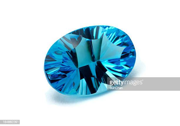 aquamarine or topaz - topaz stock photos and pictures