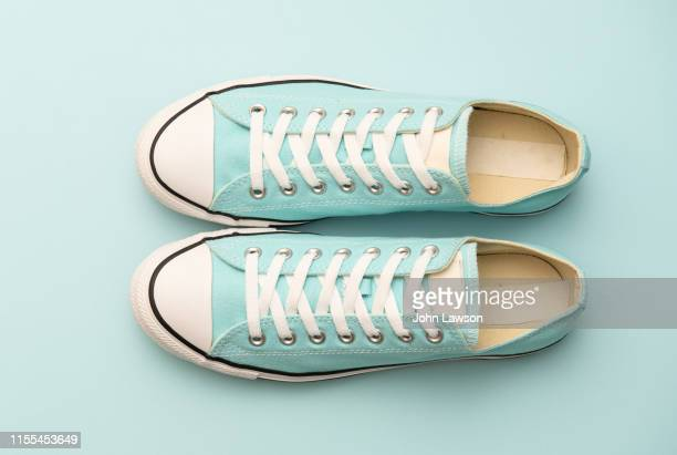 aquamarine sneakers - blue stock pictures, royalty-free photos & images