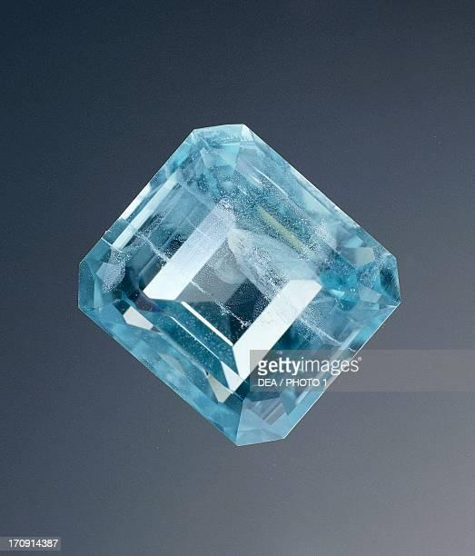 Aquamarine variety of Beryl silicate cut gem