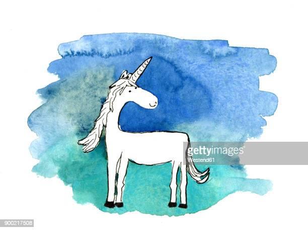 Aquarelle of a unicorn