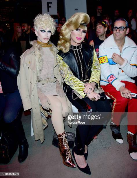 Aquaria and Jodie Harsh sit front row at The Blonds Runway show during New York Fashion Week at Spring Studios on February 13 2018 in New York City