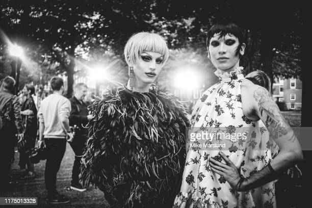 Aquaria and Miss Fame during London Fashion Week September 2019 on September 16 2019 in London England