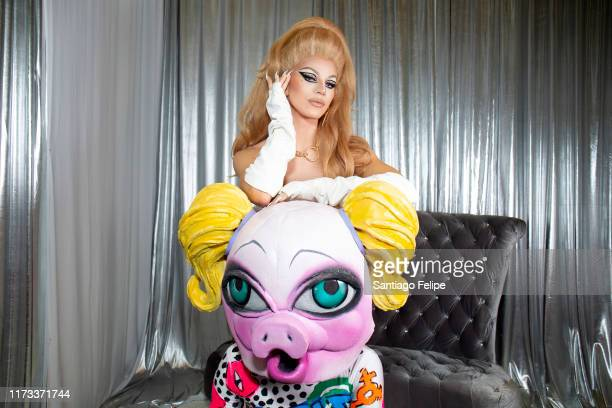 Aquaria and MX QWERRRK attend RuPaul's DragCon 2019 at The Jacob K Javits Convention Center on September 08 2019 in New York City