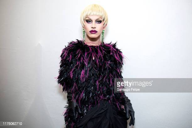 Aquaria attends 'ERDEM S/S 2020' fashion show during London Fashion Week September 2019 London on September 16 2019 in London England