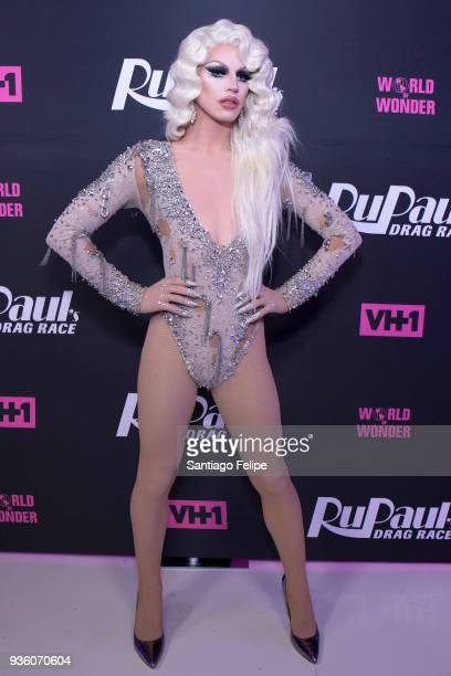 Aquaria attends 'RuPaul's Drag Race' Season 10 Meet The Queens at TRL Studios on March 21 2018 in New York City