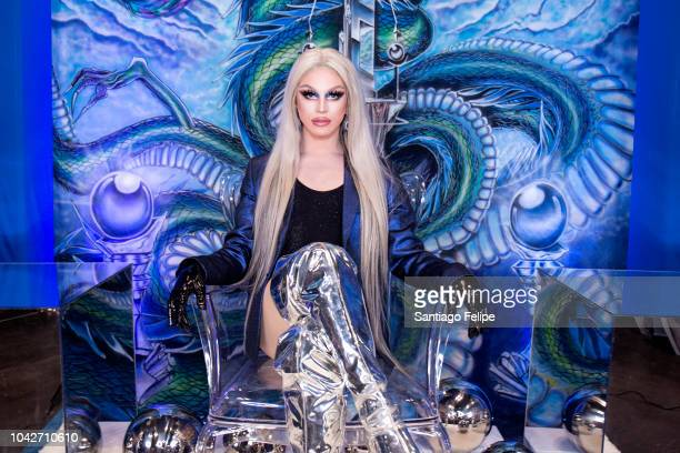 Aquaria attends RuPaul's DragCon NYC 2018 at Javits Center on September 28 2018 in New York City
