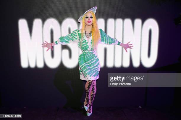 Aquaria attends Sephora x Moschino on April 13 2019 in Indio California