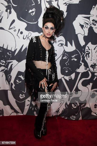 Aquaria attends the 3rd Annual RuPaul's DragCon at Los Angeles Convention Center on April 29 2017 in Los Angeles California