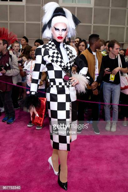 Aquaria attends the 4th Annual RuPaul's DragCon at Los Angeles Convention Center on May 12 2018 in Los Angeles California