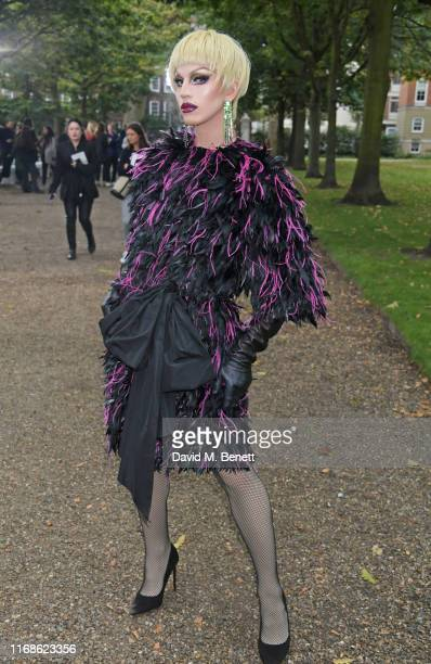 Aquaria attends the Erdem front row during London Fashion Week September 2019 at Grays Inn Gardens on September 16 2019 in London England