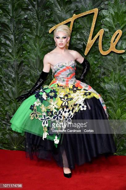 Aquaria attends the Fashion Awards 2018 in partnership with Swarovski at Royal Albert Hall on December 10 2018 in London England
