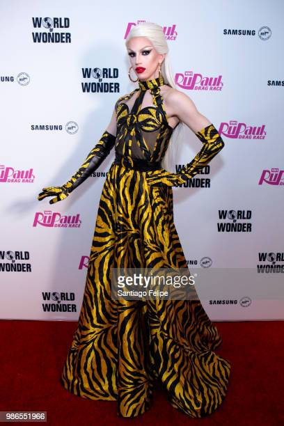 Aquaria attends the 'RuPaul's Drag Race' Season 10 Finale at Samsung 837 on June 28 2018 in New York City