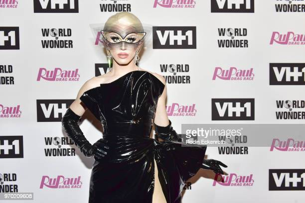 Aquaria attends VH1's 'RuPaul's Drag Race' Season 10 Finale at The Theatre at Ace Hotel on June 8 2018 in Los Angeles California