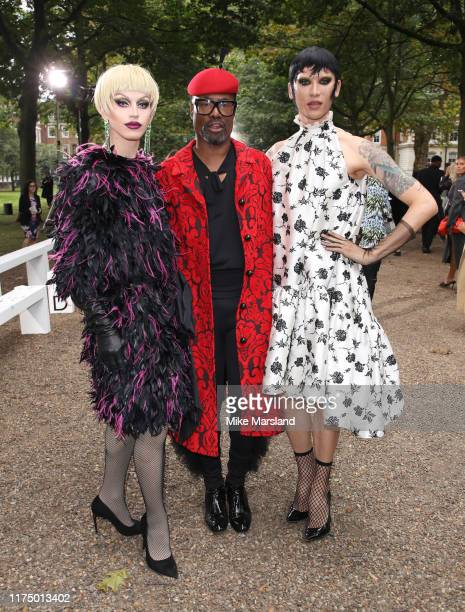 Aquaria Billy Porter and Miss Fame during London Fashion Week September 2019 on September 16 2019 in London England