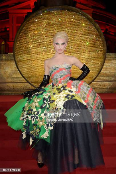 Aquaria during The Fashion Awards 2018 In Partnership With Swarovski at Royal Albert Hall on December 10 2018 in London England