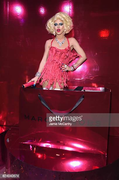 Aquaria poses as Marc Jacobs celebrates #MarcTheNight on November 17 2016 in New York City