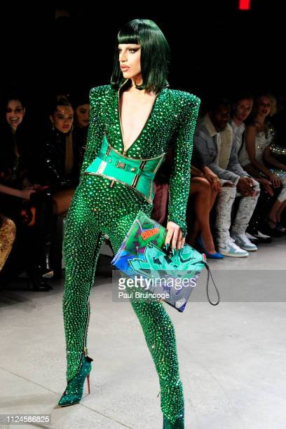 Aquaria walks the runway at The Blonds during New York Fashion Week The Shows at Gallery I at Spring Studios on February 12 2019 in New York City