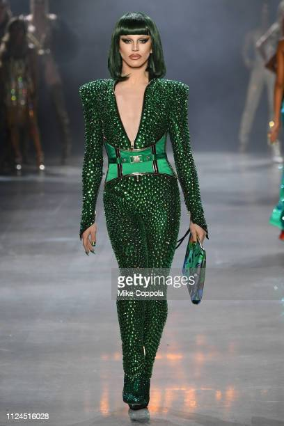 Aquaria walks the runway for the The Blonds fashion show during New York Fashion Week The Shows at Gallery I at Spring Studios on February 12 2019 in...