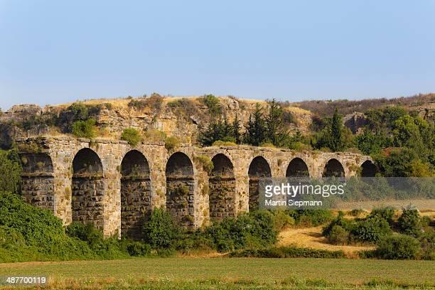Aqueduct, ancient city of Aspendos, Pamphylia, Antalya Province, Turkey
