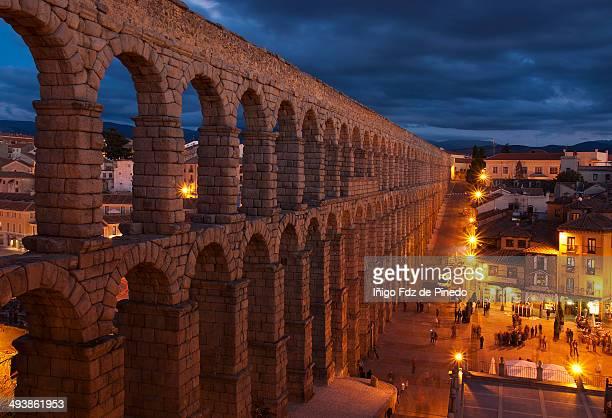 Aqueduct by night