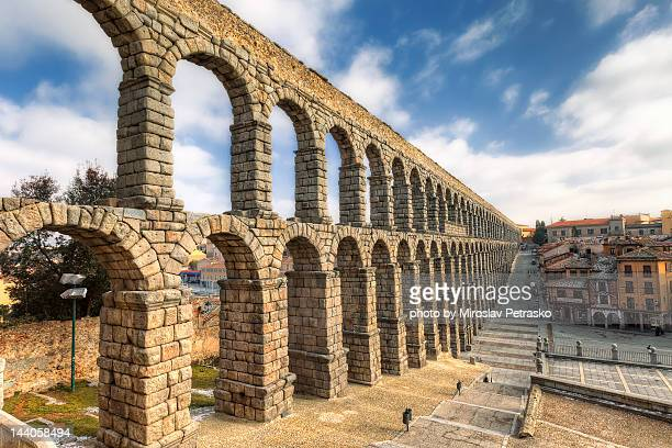 aqueduct of segovia - segovia stock photos and pictures