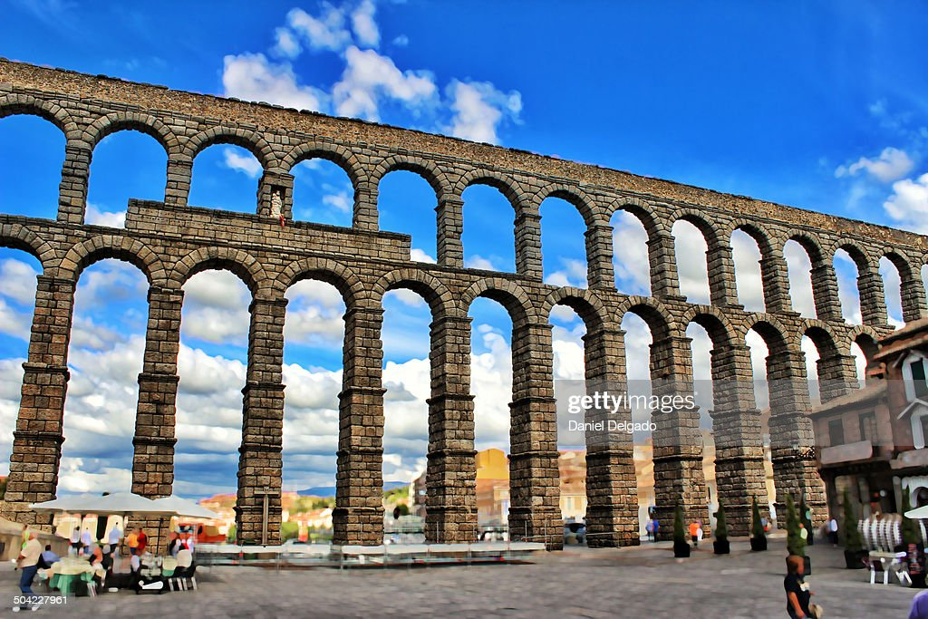 Aqueduct of Segovia : Stock Photo