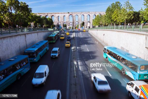 aqueduct of valens - dafos stock photos and pictures