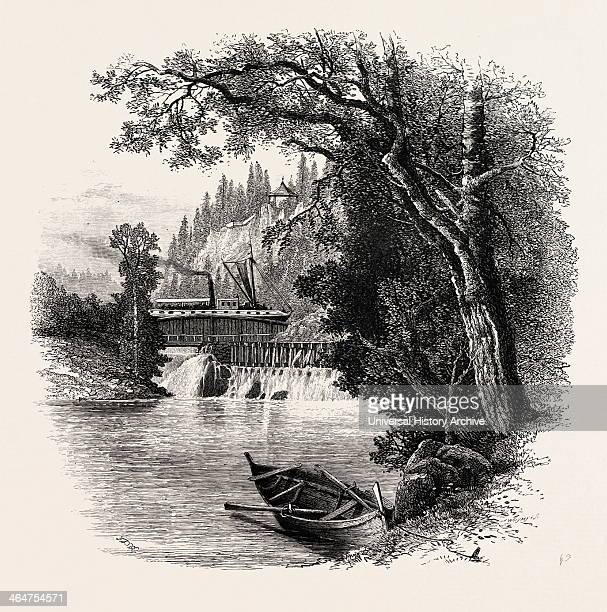 Aqueduct On The Dalsland Canal Sweden 19th Century Engraving