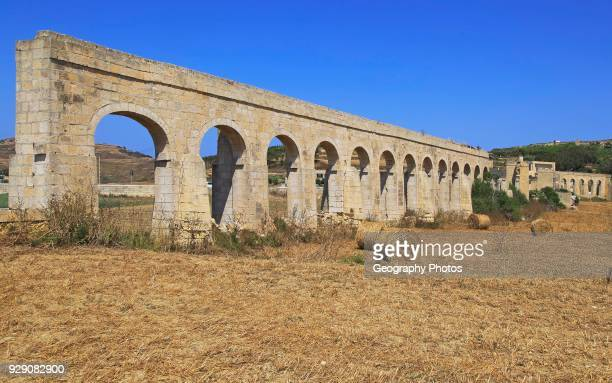 Aqueduct on the island of Gozo Malta built between 1839 and 1843