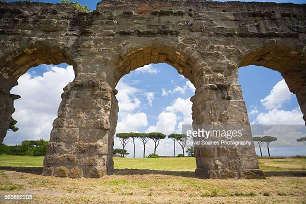 Aqueduct Park in Rome, Italy