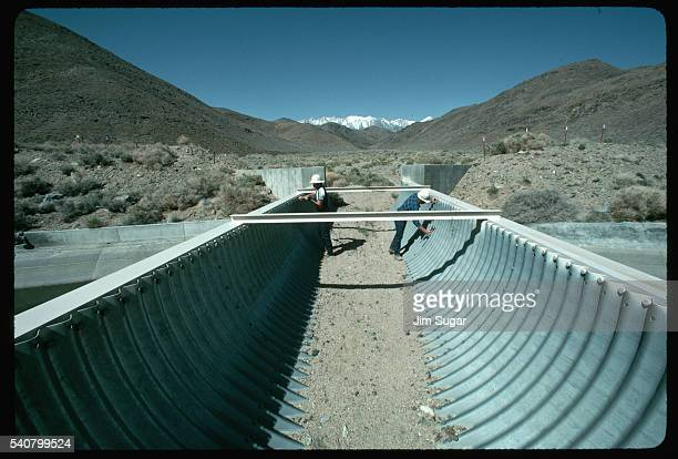 Aqueduct Under Construction in Owens Valley