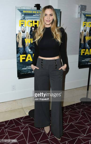 Aqueela Zoll attends Fighting With My Family Los Angeles Tastemaker Screening at The London Hotel on February 20 2019 in West Hollywood California