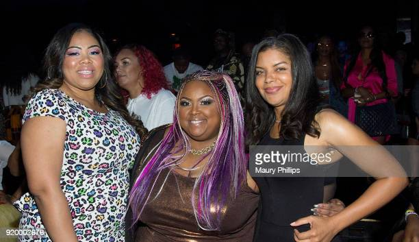 aquel Harper Echo Hattix and Tiffany Rose attend Couture Against Cancer hosted by Andre Drummond and Angel Brinks on February 17 2018 in Los Angeles...