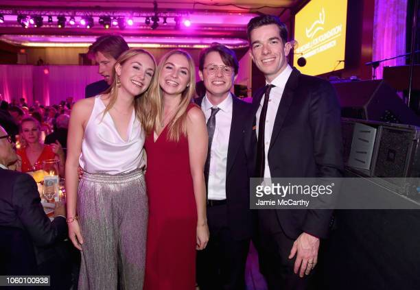 Aquinnah Kathleen Fox Schuyler Frances Fox Sam Michael Fox and John Mulaney attend A Funny Thing Happened On The Way To Cure Parkinson's benefitting...