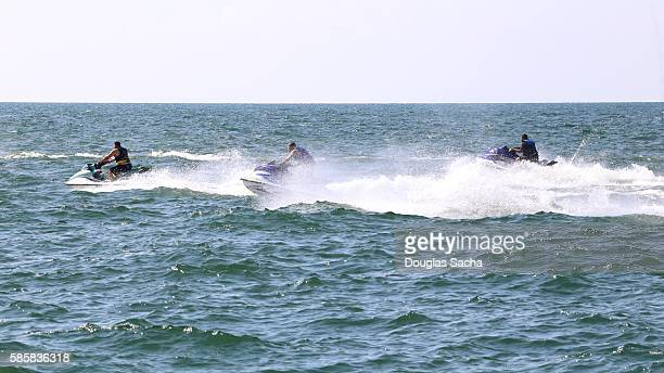 Aquqtic jet boats on the water