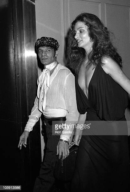 Ara Gallant and Apollonia van Ravenstein during Party for Bianca Jagger by Halston at Studio 54 in New York City New York United States